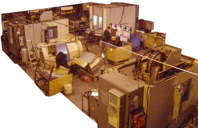 Machining cell dedicated to one family of components.